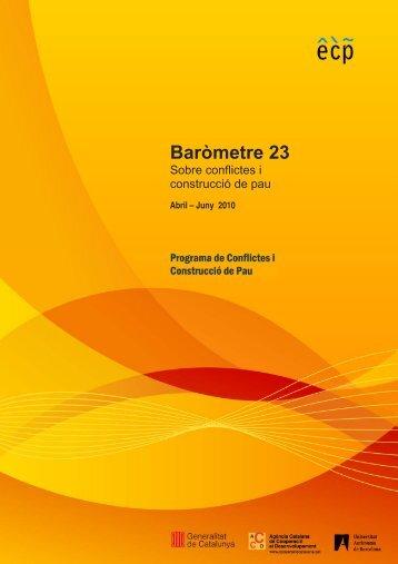 Baròmetre 23 - Escola de Cultura de Pau - Universitat Autònoma de ...