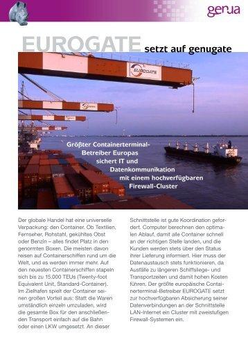 EUROGATE setzt auf genugate, Case Study (PDF) - GeNUA