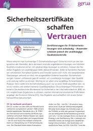 Sicherheitszertifikate schaffen Vertrauen, Whitepaper (PDF) - GeNUA