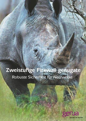 Zweistufige Firewall genugate, Salesfolder (PDF) - GeNUA