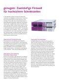 Zweistufige Firewall genugate, Salesfolder (PDF) - GeNUA - Seite 2
