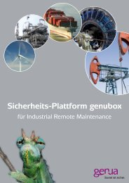 Sicherheits-Plattform genubox, Salesfolder (PDF) - GeNUA