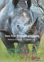 Two-Tier Firewall genugate, Salesfolder (PDF) - GeNUA