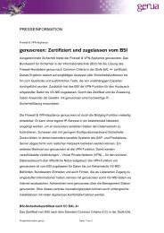 genuscreen: Zertifiziert und zugelassen vom BSI - GeNUA