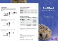 GeNUCard Quickstart Guide (deutsch) - GeNUA