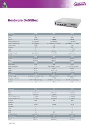 Hardware GeNUBox - GeNUA