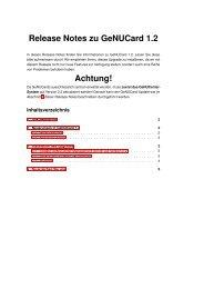 Release Notes zu GeNUCard 1.2 Achtung! - GeNUA