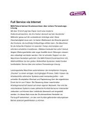 Full Service via Internet - GeNUA