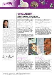 GeNULetter Nr. 11 von Juli 2011 - GeNUA