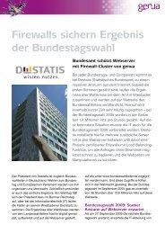 Firewalls sichern Ergebnis der Bundestagswahl - GeNUA