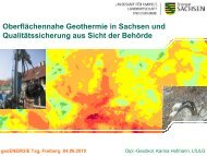 Oberflächennahe Geothermie in Sachsen und Qualitätssicherung ...