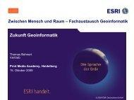 Zukunft Geoinformatik - geomer GmbH