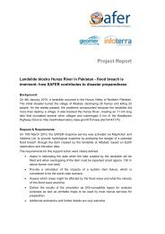 Project Report - GMES : Emergency Response Service