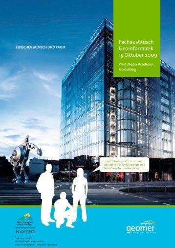Veranstaltungs- broschüre - geomer GmbH