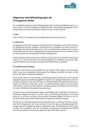 Allgemeine Geschäftsbedingungen der Firma geomer GmbH