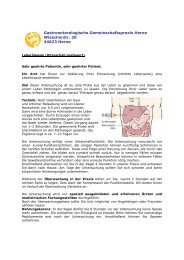 Leberbiopsie (Ultraschall gesteuert) - Gastroenterologische ...