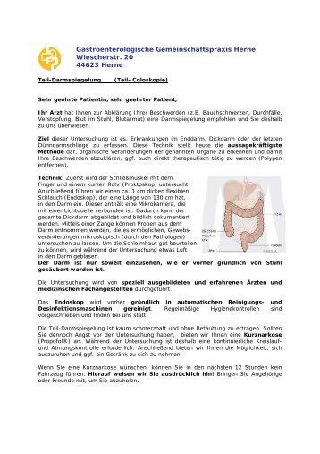Gastroenterologische Gemeinschaftspraxis Herne Wiescherstr. 20 ...
