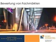 Bewertung von Fachmärkten - Georg Consulting