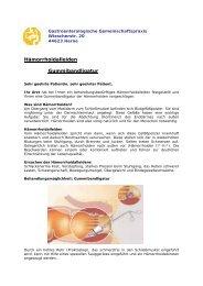 Gummibandligatur - Gastroenterologische Gemeinschaftspraxis Herne