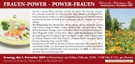 FRAUEN-POWER - POWER-FRAUEN Sonntag den 1. November ...