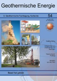 1 Geothermische Energie 54/2007 - Geothermie