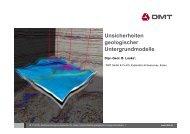 Unsicherheiten der Seismik - Geothermie