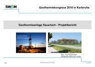 Geothermieanlage Sauerlach