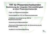 TRT-Anlage für Phasenwechselsonden - Geothermie
