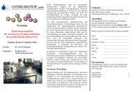 Workshop Tiefenwasseranalytik für ein besseres ... - Geothermie