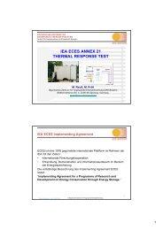 aktueller Stand TRT international ( IEA ECES Annex 21)