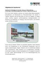 Projektbericht - Geothermie