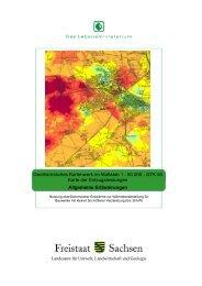 Geothermisches Kartenwerk Sachsen im Maßstab 1 - Geothermie