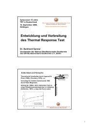 Entwicklung und Verbreitung des  Thermal Response Test (TRT)