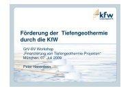 Hasenbein_Förderung durch KfW - Geothermie