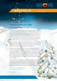 Newsletter Nr. 18 - Geovol