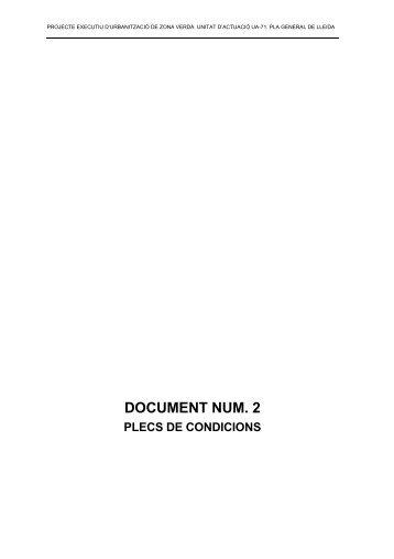 DOCUMENT NUM. 2 - Ajuntament de Lleida