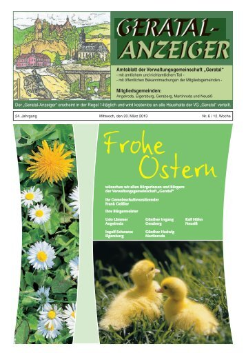 Geratalanzeiger Nr. 06 vom  20.03.2013 - Verwaltungsgemeinschaft ...