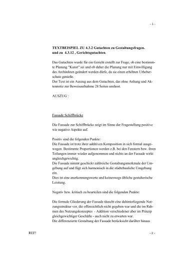 textbeispiel zu 432 gutachten zu gerhard bolten - Gutachten Beispiel