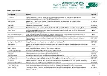 """Referenzen zum Thema """"Altlasten"""" - Geotechnisches Büro Prof. Dr ..."""