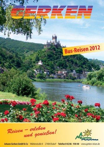 Bus-Reisen 2012 - Gerken-Reisen