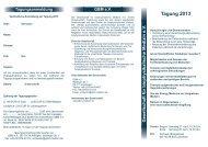 Tagung 201 3 - Gesellschaft für biophysikalische Medizin eV