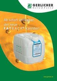 Ab sofort verfügbar: der neue FATBACK®-Kanister! - Gerlicher GmbH