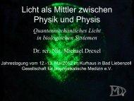 Quantenmechanisches Licht in biologischen Systemen