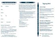 Tagung 201 2 - Gesellschaft für biophysikalische Medizin eV