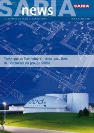 deux axes forts de l'évolution du groupe SARIA  - UNIMELT GmbH