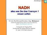 ENADA * NADH - Gesellschaft für biophysikalische Medizin eV