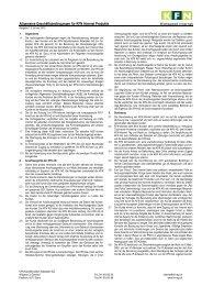 Allgemeine Geschäftsbedingungen für KFN Internet Produkte - Kfn-ag