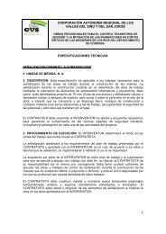 5.Especificaciónes tecnicas. - Corporación Autónoma Regional de ...
