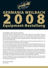 Besteller-Informationen - Germania Weilbach