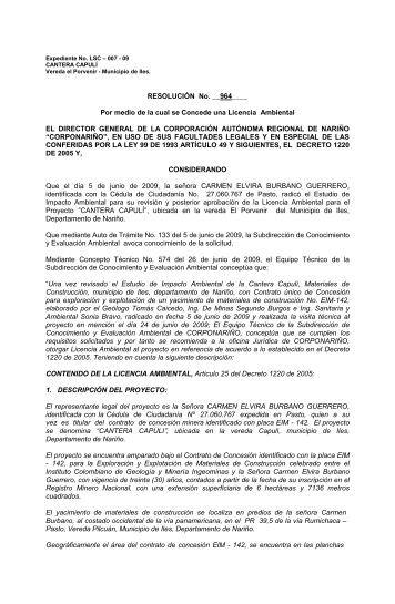 lsc-007-09 Resolucion LA - Corporación Autónoma Regional de ...